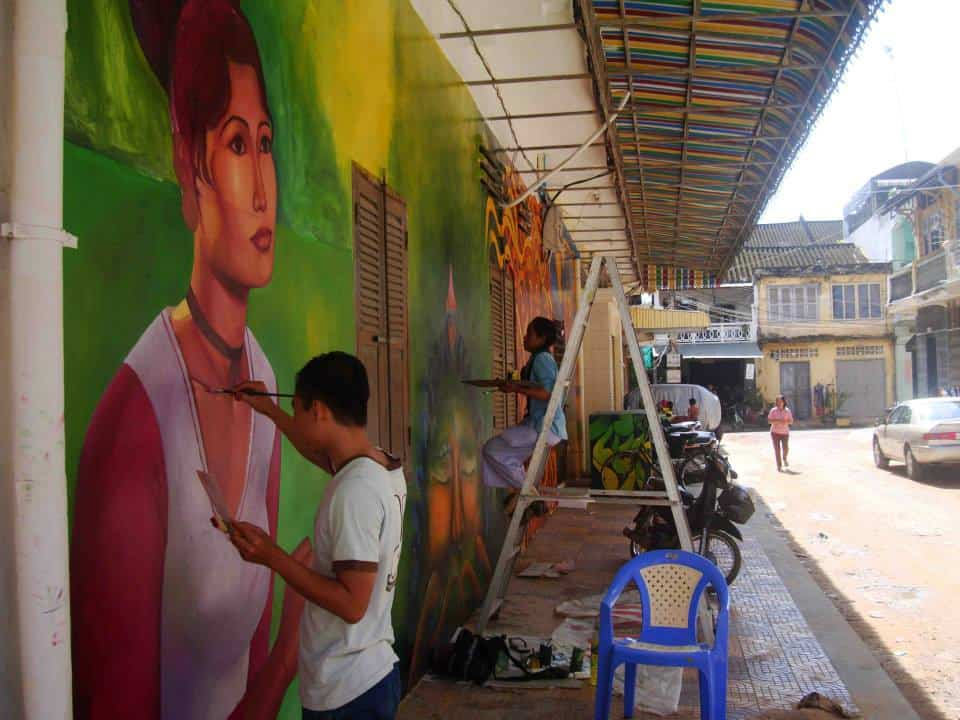 Mural Painting by Chov Theanly